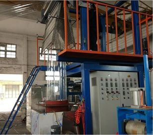 China High Speed Film Blowing Machine , Pvc Film Machine 8-20kg/H Yield SJ55×28-Sm1000 supplier