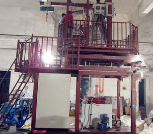 China Blown Film Plant With Double Station Wing Machine 90-110Kg/H Output supplier