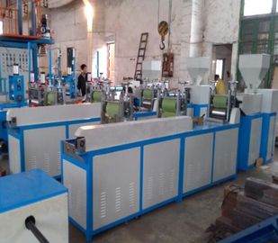 China Extrusion Blown Film Process Plastic Blown Film Machine 10-30kg/H Output distributor