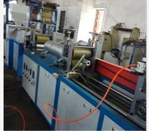 China PVC Heat Shrink Tubing Flat Blown Film Extrusion Machine 5.5KW Motor Power distributor