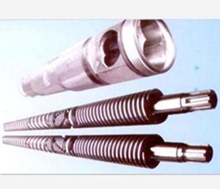 China Small Conical Twin Screw Barrel For Plastic Extrusion Machine Alloy Hardness HRC55-62 distributor